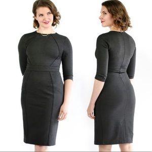 Betabrand Perfect Work Dress sheath gray career